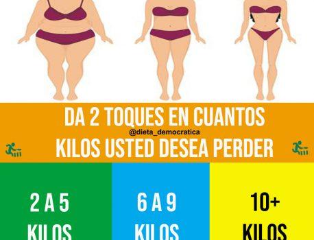 ¿Cuánto peso deseas perder?