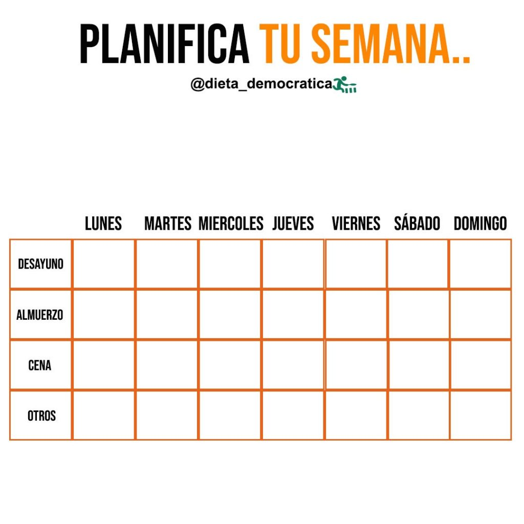 Planifica tu semana